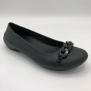 Crocs Gianna Chain Link Flat Ballet Shoes